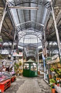 San Telmo market interior metallic structure